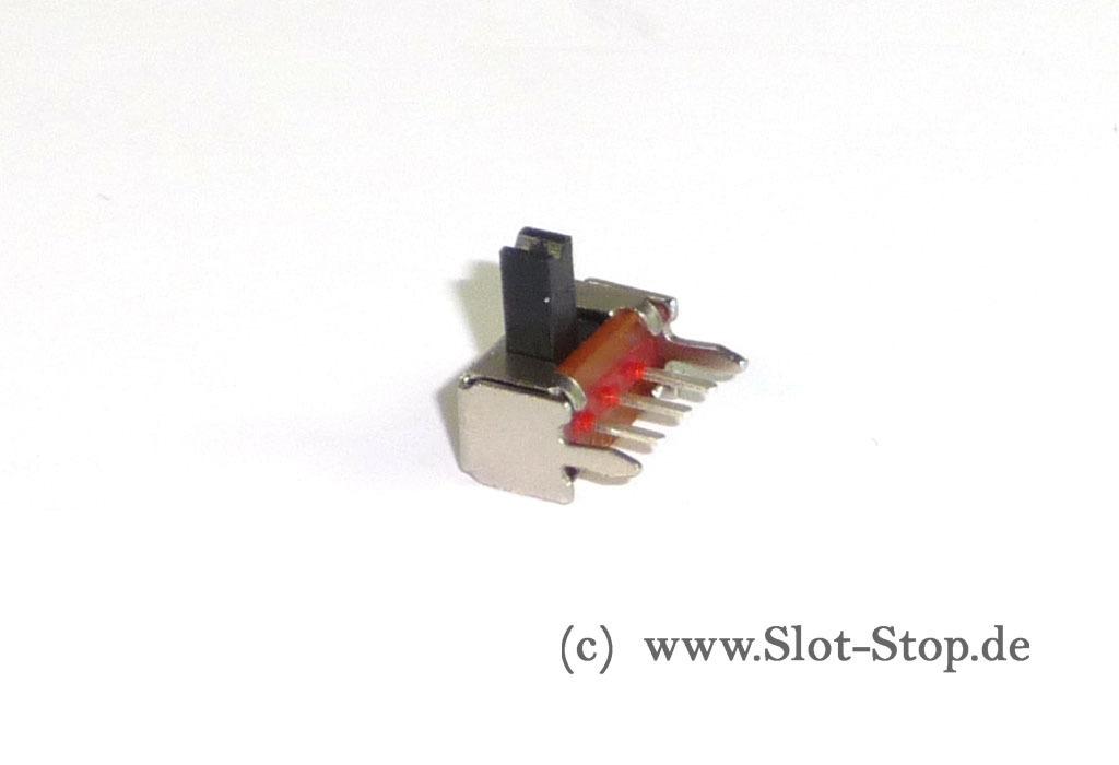 Microschalter abgewinkelt (z.B. für Licht) im Slot-Stop