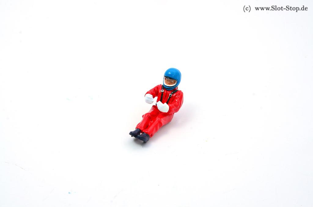 low priced 6e66d 199b6 Fahrerfigur sitzend mit Integralhelm, roter Overall, Blauer Helm