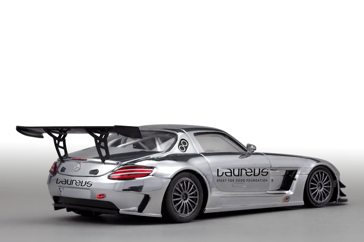 scaleauto sc6019 1 32 slotcar mercedes sls amg gt3 laureus. Black Bedroom Furniture Sets. Home Design Ideas