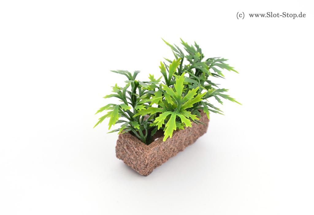 Miniaturbeton - Pflanzkübel - Rechteckig - rot 1:32