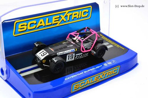 Scalextric Caterham Superlight - Championchip 2014  #19  *ABVERKAUF*