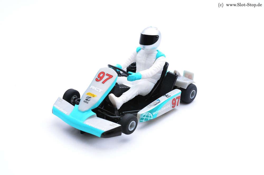 Scalextric C3836 Racing Kart - GoKart, blau/silber #97 Slotcar