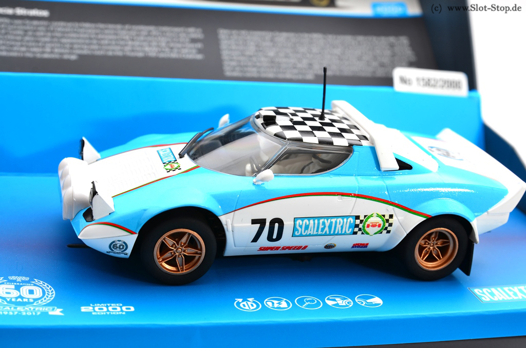 """scalextricc3827a lancia stratos """"60 years scalextric"""" #70 1/32"""