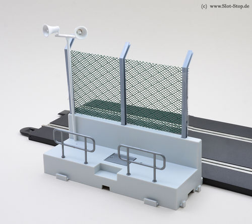 Pit wall section with fence (6 pcs)