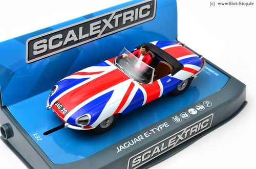 "Scalextric Jaguar E-Type ""Union Jack""  *ABVERKAUF*"