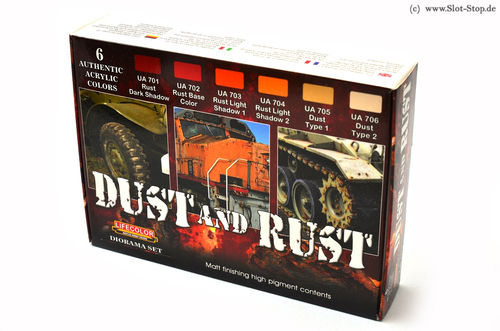 "Lifecolor ""Dust and Rust"" - Farbset mit 6 Farben"
