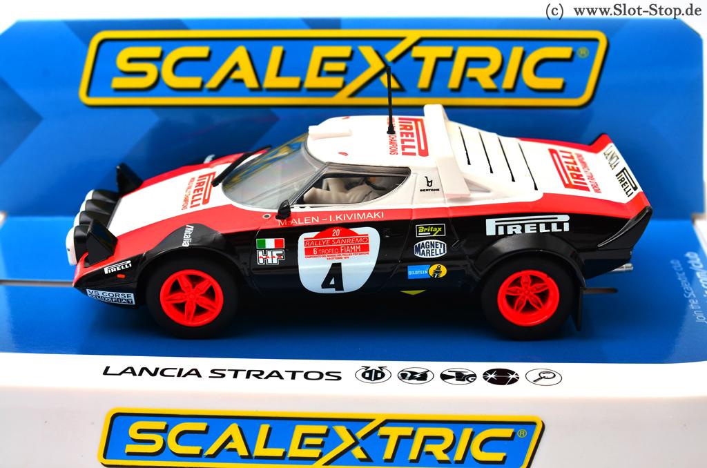 """scalextric c3931 lancia stratos """"pirelli"""" #4 kivimaki / alen 1/32"""