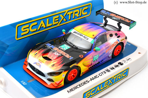 "Scalextric Mercedes AMG GT3 ""Sun Energy1""  #75"