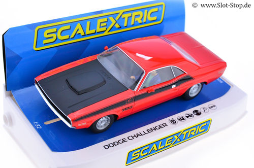 "Scalextric Dodge Challenger ""Red / Black"" Street-Car"