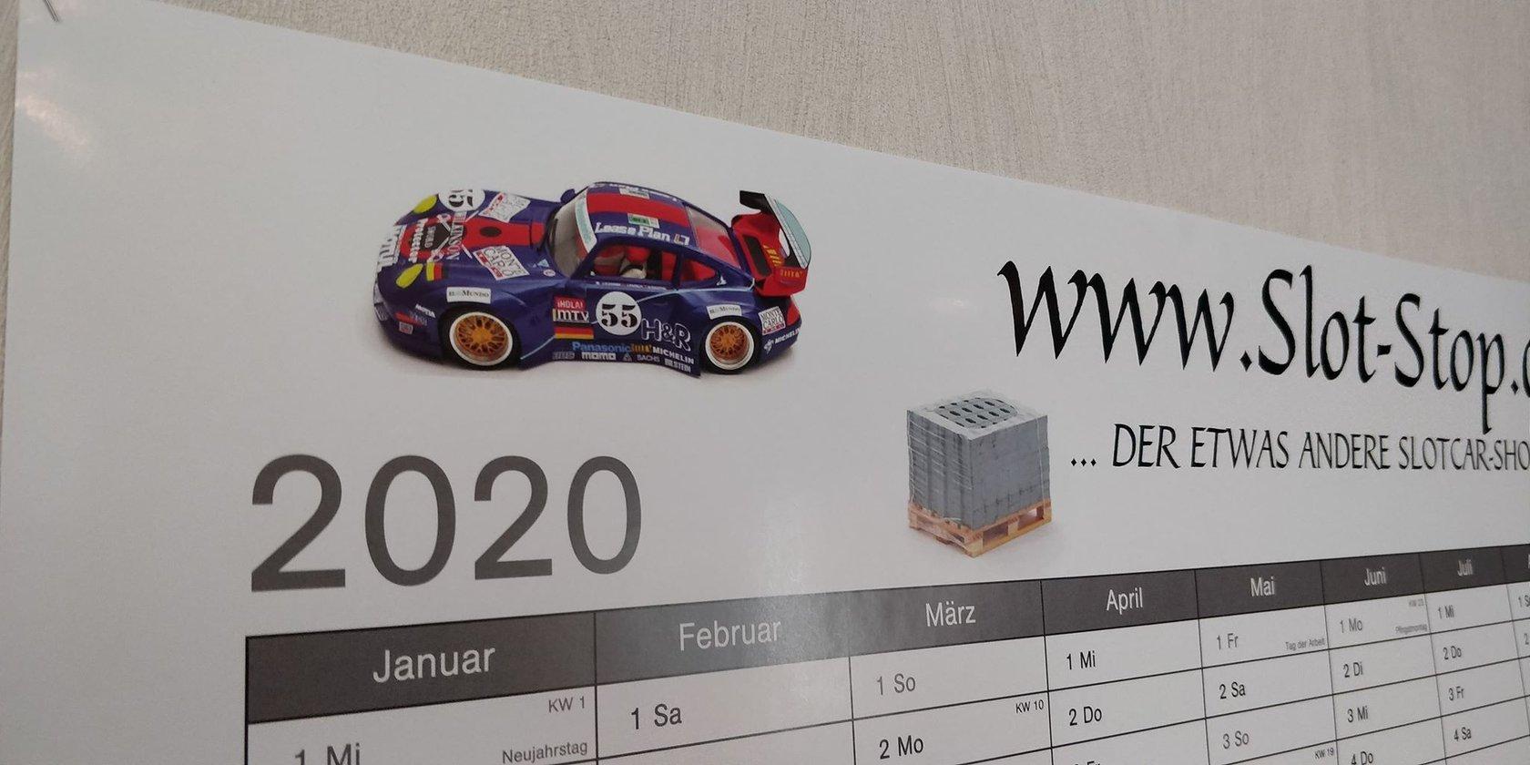 slot stop wand kalender 2019 din a1 slotcar slotracing. Black Bedroom Furniture Sets. Home Design Ideas